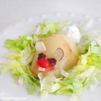 Easter Bunny Pear Fruit Salad
