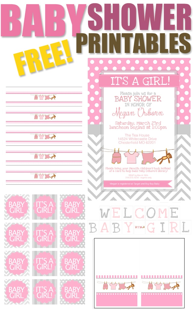 BABY GIRL SHOWER PRINTABLES