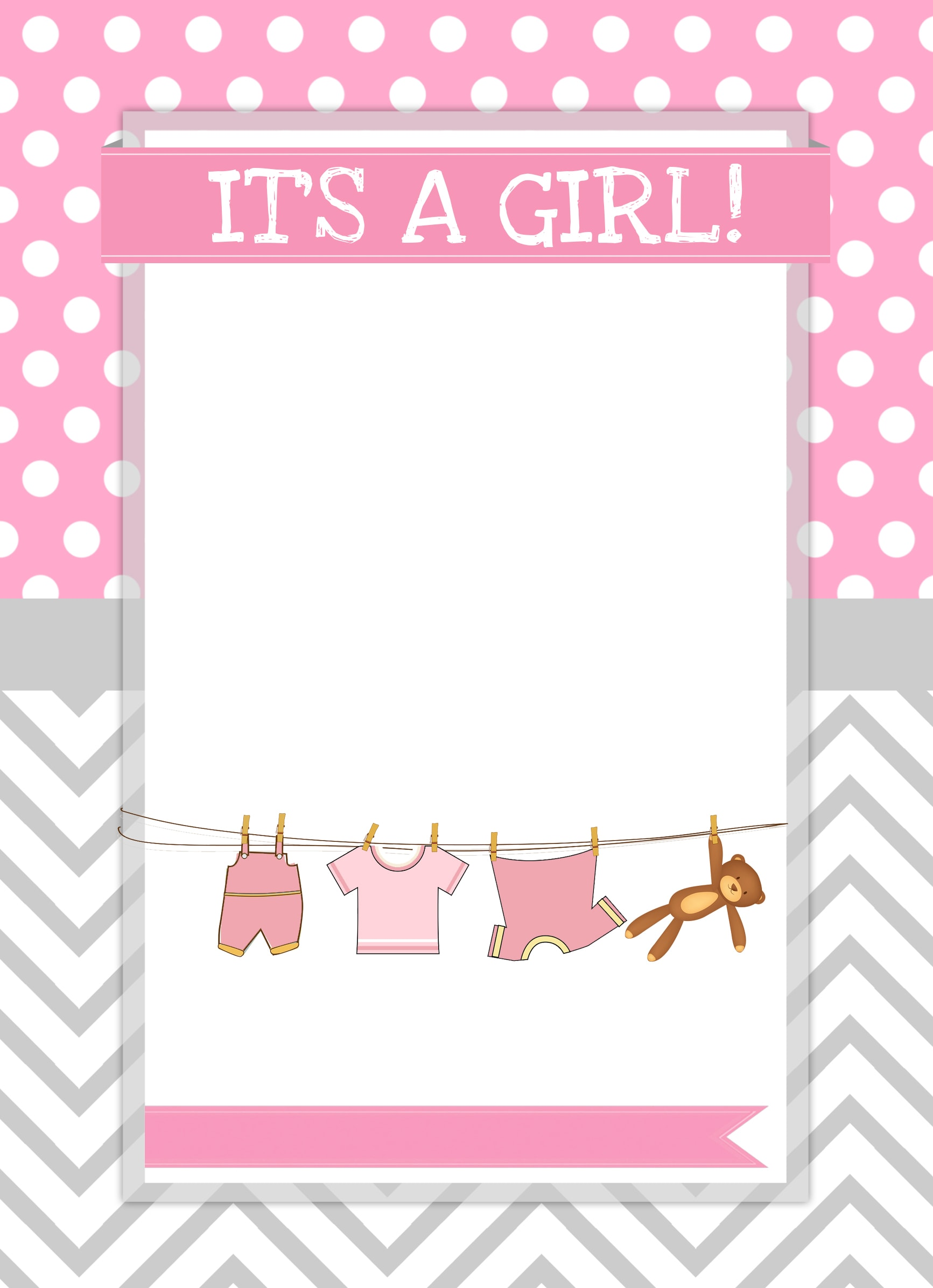 baby girl shower invite blank