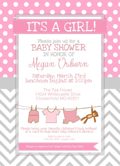 baby girl shower invite