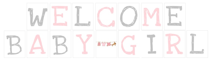 welcome baby girl banner free printable