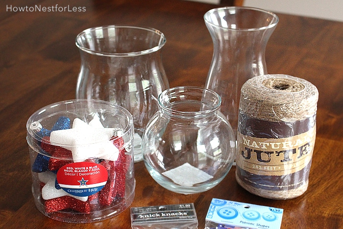 4th of july candle holders supplies