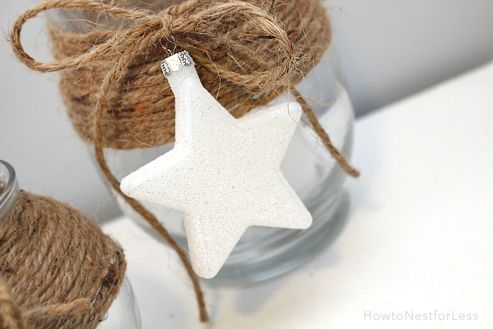 4th of july candle holders twine