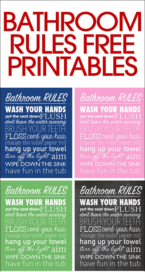 Bathroom rules free printable how to nest for less bathroom rules free printable pronofoot35fo Choice Image