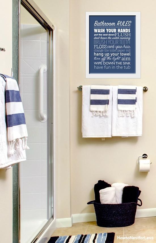 Popular bathroom free printable