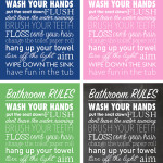 Bathroom Rules Free Printable