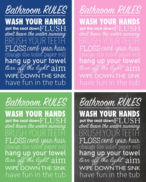 Bathroom Rules Free Printable How To Nest For Less