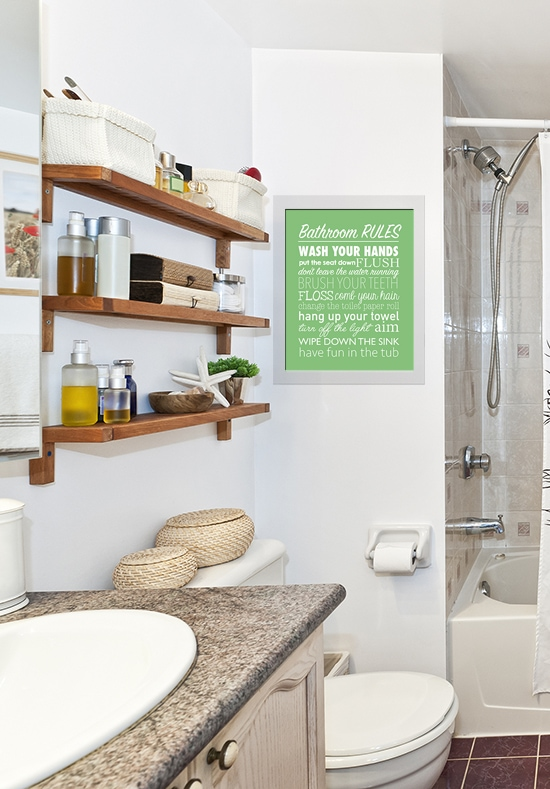 bathroom free printable