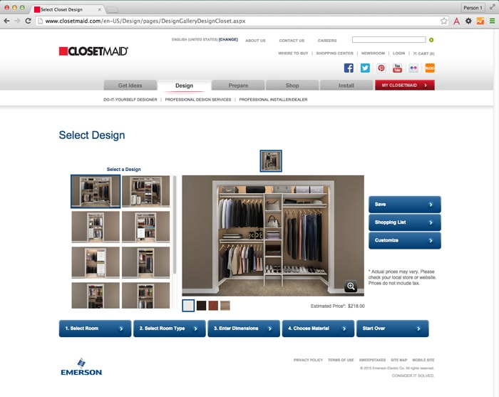 closetmaid website