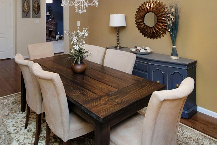 dining room farmhouse table