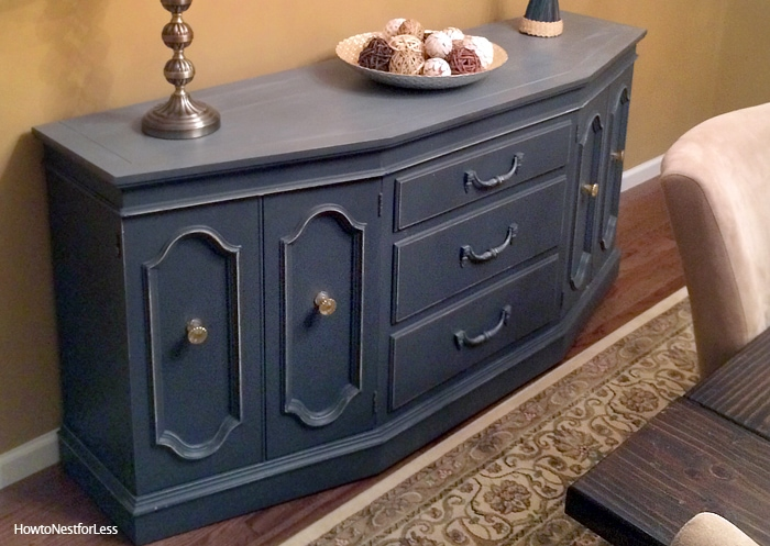 dining room painted buffet