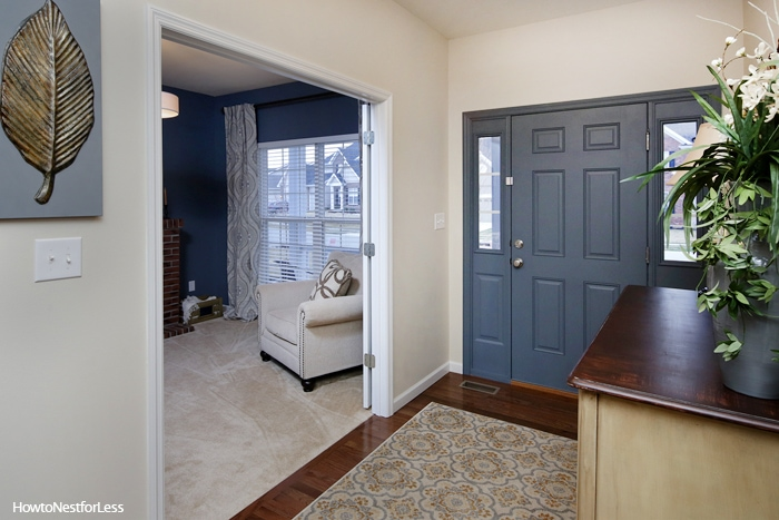 entry foyer to living room