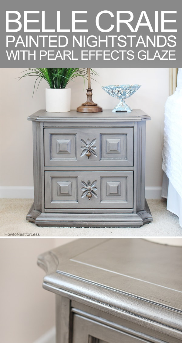 painted nightstands with pearl effects