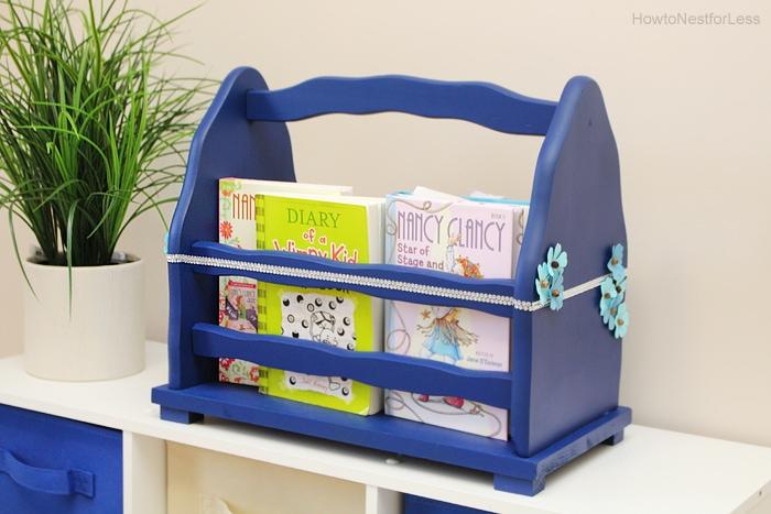 upcycled magazine rack