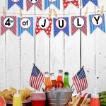 4th of July Bunting Banner + Blog Hop