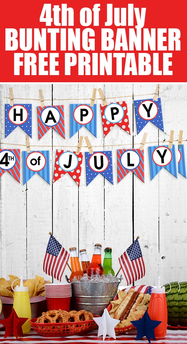 4th of july bunting banner