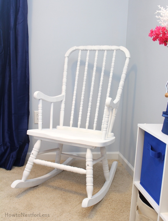 DIY painted rocking chair