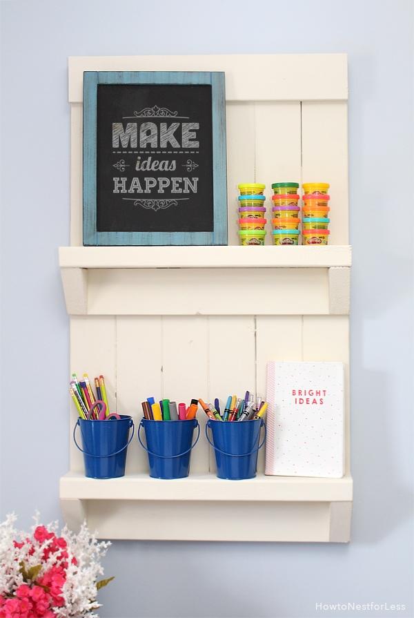 DIY wall shelf organizer