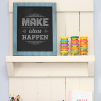 DIY Wall Organizer + Shelf