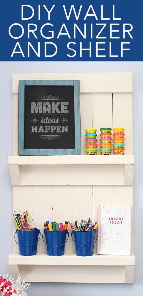 DIY wall shelf organizer tutorial