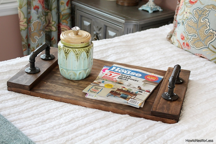 DIY wood tray tutorial
