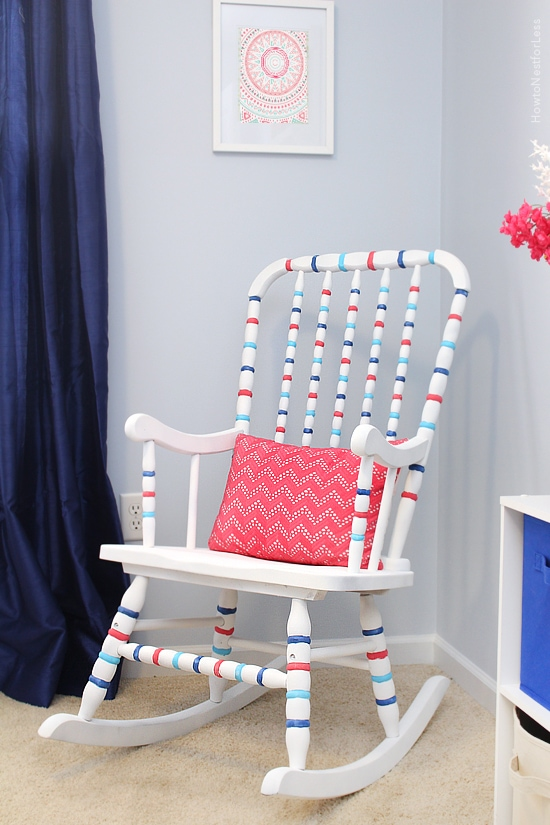 blue and pink girly bedroom