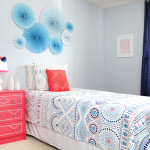 Blue and Coral Kids Bedroom