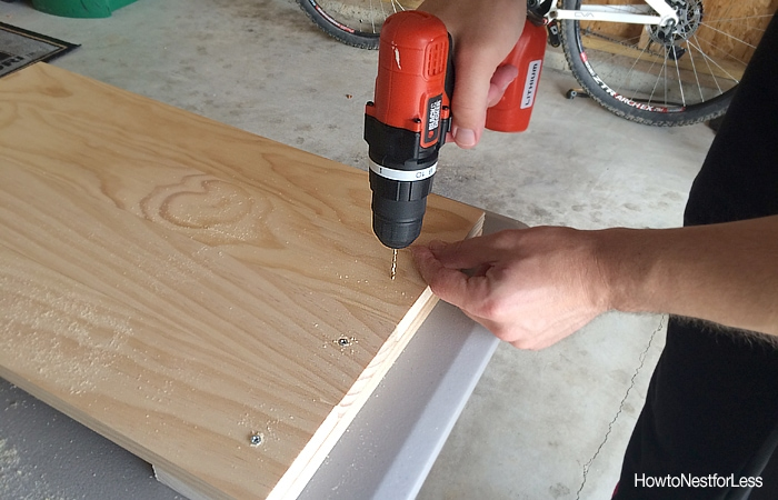 drill holes for DIY tray