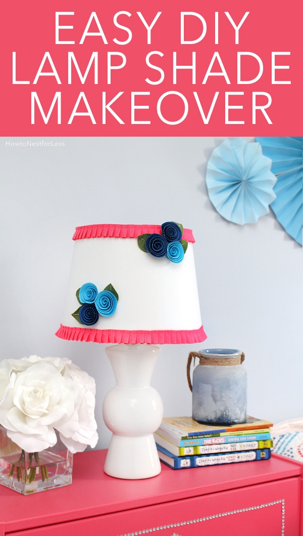 DIY Floral + Ruffle Lamp Shade