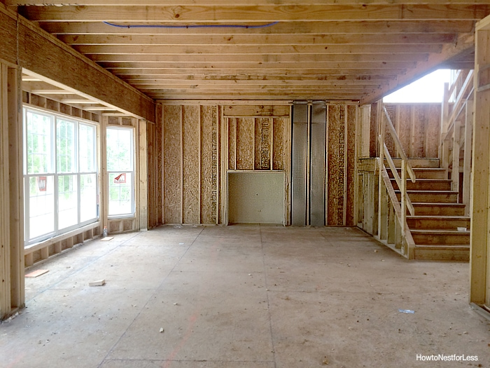 family room framing