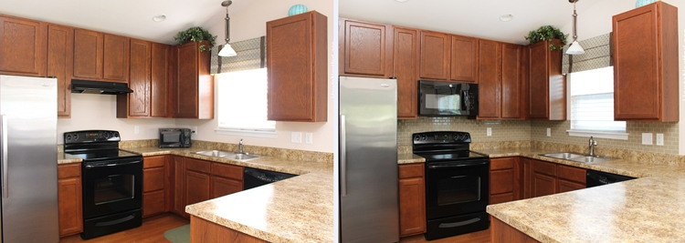 kitchen mini makeover before and after