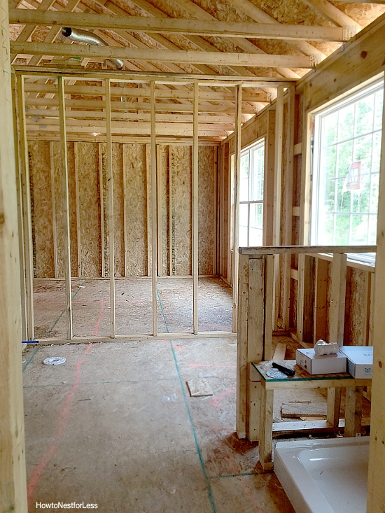 master bathroom framing