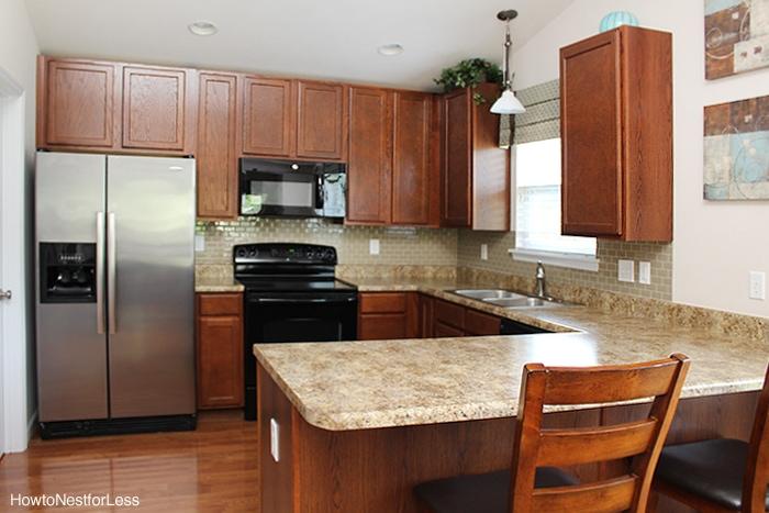 mini kitchen makeover smart tiles