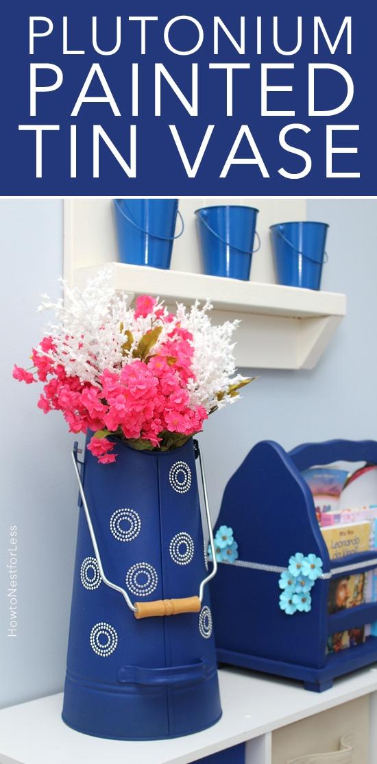 plutonium spray paint tin vase