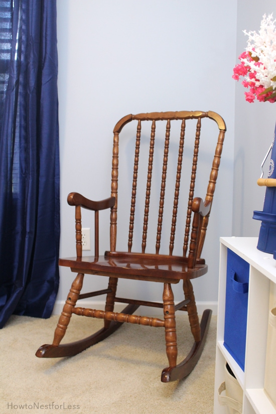rocking chair before paint