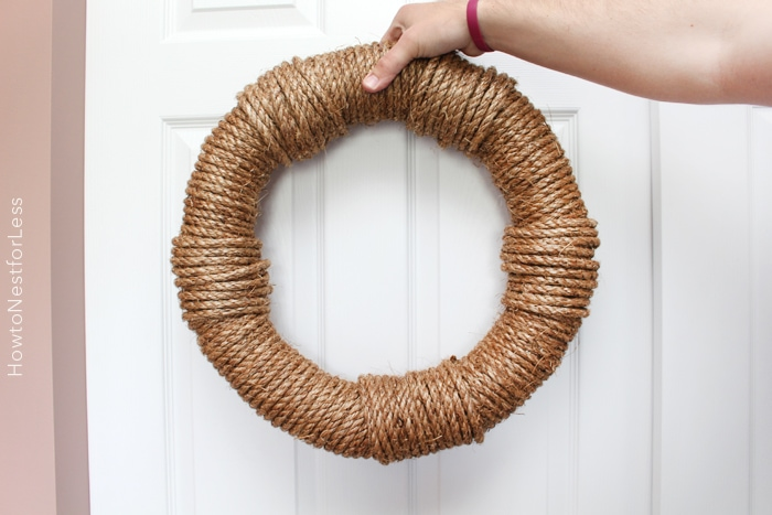 rope nautical wreath craft