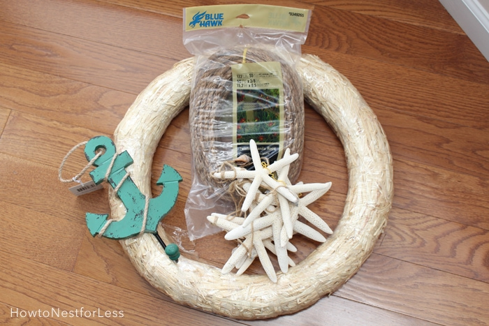 rope nautical wreath supplies