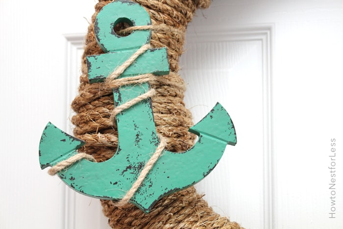 rope seashell wreath
