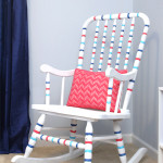 Striped Rocking Chair