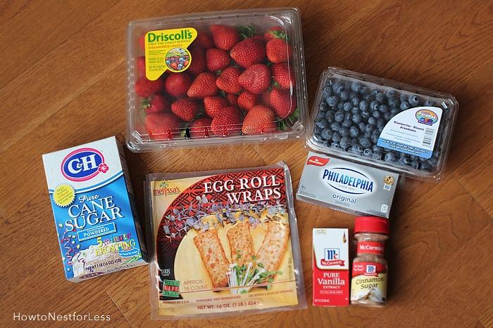 wild berry cheesecake rolls ingredients