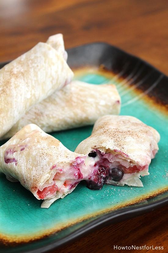 wild berry cheesecake rolls recipe