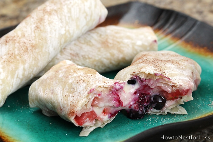 wildberry cheesecake rolls