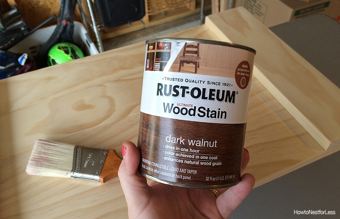 wood stain for DIY tray