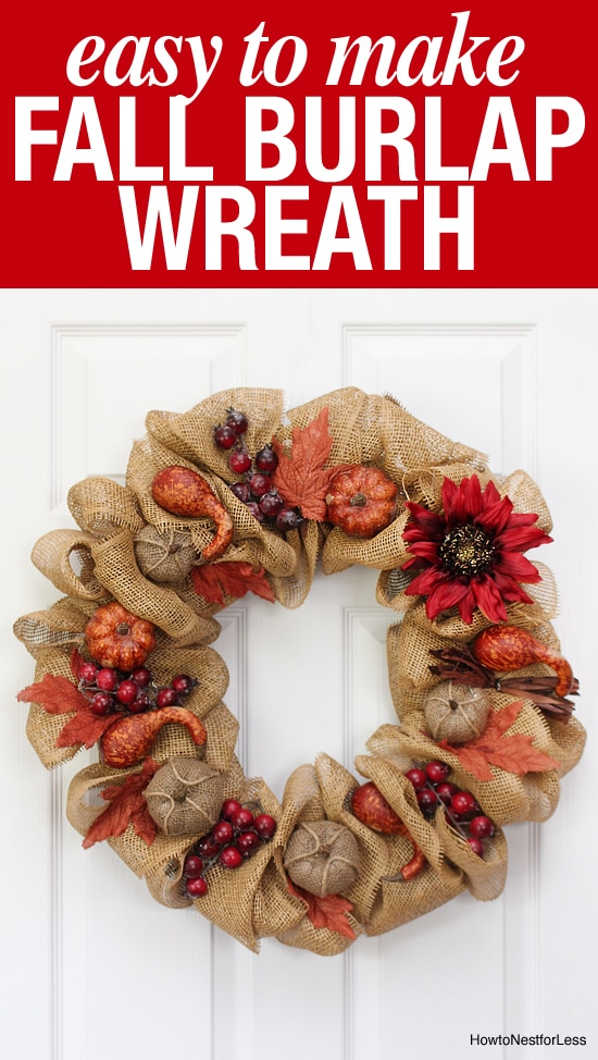 DIY fall burlap wreath tutorial