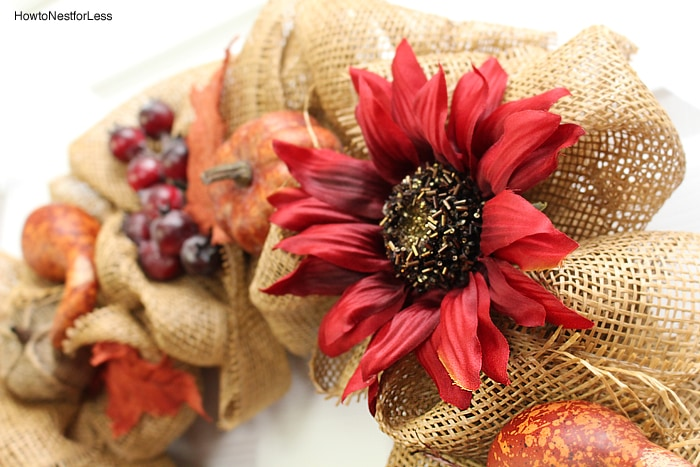 fall burlap DIY wreath