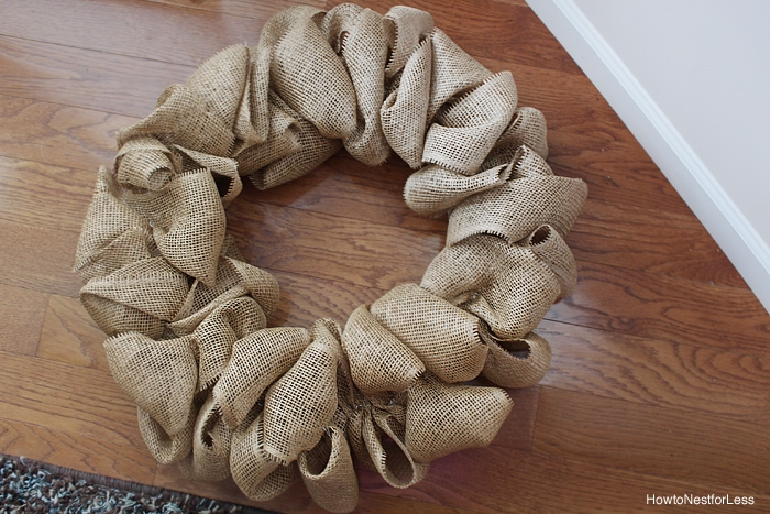 fall burlap ruffle wreath