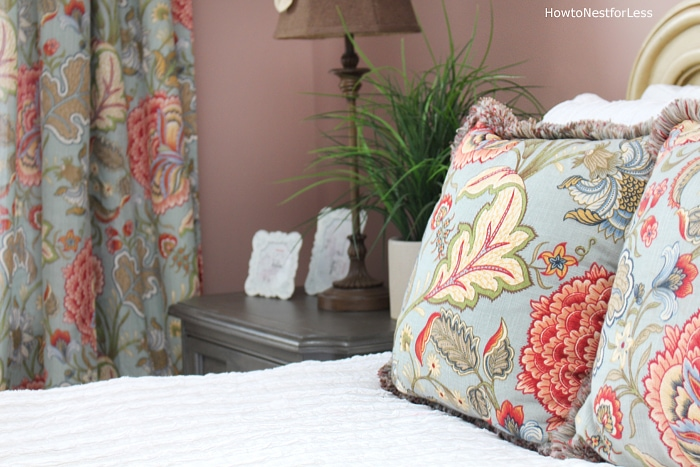 guest bedroom floral makeover