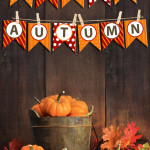Happy Autumn Bunting Banner