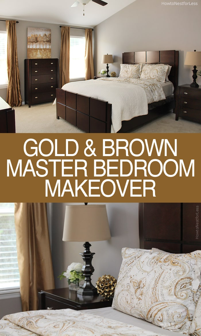 Brother 39 s master bedroom makeover how to nest for less Brown color bedroom