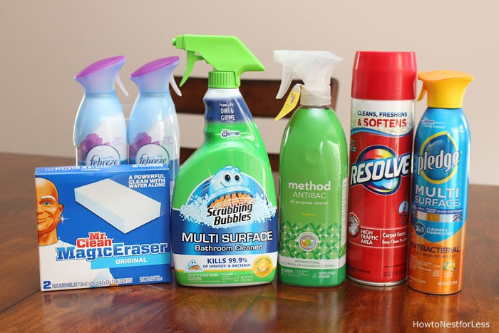 bathroom cleaning supplies housewarming gift